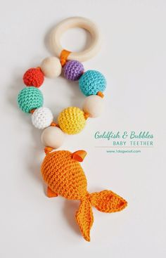 Bubbles and Goldfish Teether