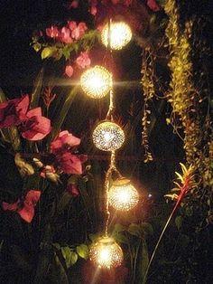 5 Ball Coconut Shell Lamp Night Light Garden Light Hand Craft Hand Made #01 | eBay