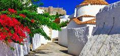 Eglise traditionnelle sur Patmos, Dodécanèse.