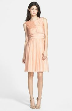 Ivy & Blu Crinkled Pleat Fit & Flare Dress available at #Nordstrom $228