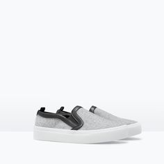 ZARA - WOMAN - FABRIC PLIMSOLL Shoe Closet, Shoe Bag, Hooker Heels, Grey Slippers, Plimsolls, Zara United States, Tennis, Zara Shoes, Bags