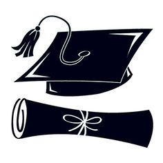 Black Graduation Cap and Scroll Temporary Tattoo - Black Graduation Cap and Scroll Temporary Tattoo
