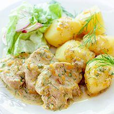 Pork Tenderloin Recipes, Polish Recipes, Meatball Recipes, Potato Salad, Shrimp, Paleo, Food And Drink, Menu, Dishes