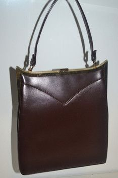 Brown Leather Handbag - Quirky Finds Vintage