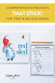 These activities, anchor charts, lessons and passages will help your first and second grade students become familiar with the comprehension strategies that help them better understand the stories they are reading. Download the preview to check it out!