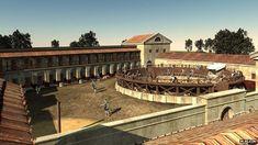Virtual reconstruction of Roman 'gladiator school'