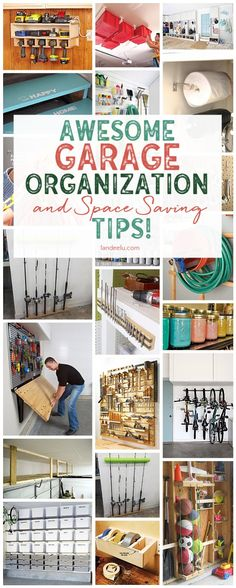 So many awesome DIY garage organization ideas. I needed these!