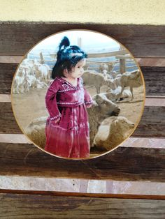 Out with Mamas Flock From The Proud Nation Plate Collection Fine Porcelain enhanced with 23K Gold Rim Painted by Artist Ray Swanson Edition Limited