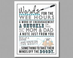 Blue Words for the Wee Hours Printable for by KrysteenaMarieDesign