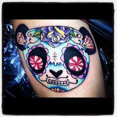 Panda Tattoo!! :)) I Tattoo, Cool Tattoos, Awesome Tattoos, Tatoos, Sugar Skull Tattoos, Amanda Rose, Skin Art, Art Photography, Ink