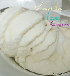 Recipes For My Boys: Vanilla Ice Cream..Yes, I got an Ice Cream Maker
