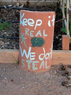 Clever theft deterrents in Phoenix community garden <== theyarden.com