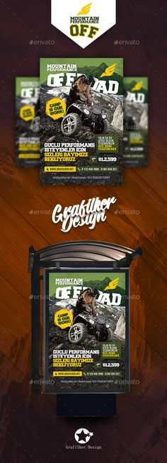 Off-Road Adventure Poster Template PSD, InDesign INDD