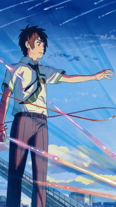 Kimi no Na wa Film Manga, Art Manga, Manga Anime, Your Name Wallpaper, Cute Couple Wallpaper, Anime Love Couple, Cute Anime Couples, Animes Wallpapers, Cute Wallpapers