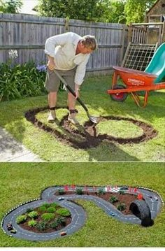 Built in race track