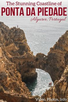 Best of Algarve Portugal - Discover the stunning coastline of Ponta Da Piedade with arches, rock pillars and caves - Photos, video and info to plan your visit in the article | Portugal Travel Guide | Portugal itinerary | Portugal Algarve