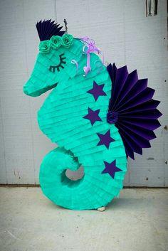 Under the sea Party Mermaid Mermaid Pinata, Mermaid Tail Cake, 5th Birthday Party Ideas, Party Themes, Birthday Parties, Mermaid Birthday, Baby Birthday, Little Mermaid Parties, Tiki Party