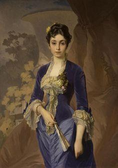 ab. 1870 Ivan Makarov - Portrait of Maria Grigorievna Rayevskaya