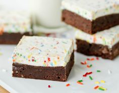 Homemade Brownies with Funfetti Frosting - Confessions of a Cookbook Queen