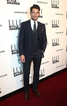 David Gandy: Elle Style Awards fashion - best dressed on the red carpet - Metro UK | suit: Marks and Spencer | february 18, 2014