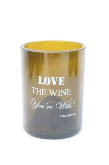 "Cheers to our new Wine Quote Glassware line! ~ ""Love the wine you're with."" ~ Anonymous"