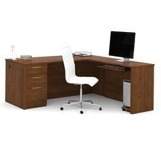 "71""W Executive L-Desk   National Business Furniture"