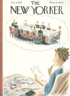 The New Yorker - Saturday, January 4, 1947 - Issue # 1142 - Vol. 22 - N° 47 - Cover by : Constantin Alajalov