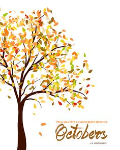 Add this cute October Home Decor Printable to your line-up of fall decorations. Free to download and print out, easy to put in a simple frame!