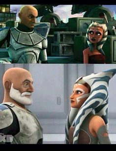 Ahsoka and Captain Rex Dunno why, but this pic is slaughtering me inside. The first meeting and then fifteen years later! That means that Ahsoka Star Wars Rebels, Star Wars Clone Wars, Star Wars Art, Star Trek, Star Wars Love, Star War 3, Cultura Pop, Asoka Tano, Chef D Oeuvre