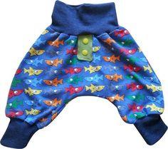 Coole Jungen Baby Hose Gr. 50/56 Haie von MiniDreams auf DaWanda.com