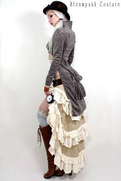 Kato steampunk. skirt. jacket. hat. socks.