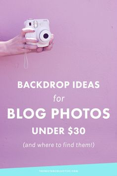 5 Backdrop Ideas For Blog Photography Under $30 (And How to Create Them)