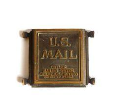 Antique Bronze U.S. Mail Chute by aestheticallyantique on Etsy, $115.00