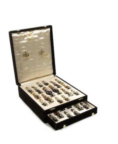 """A """"Mary Chess"""" scent or perfume bottle glass chess set, Mary Chess Ltd, London, 20th century,"""