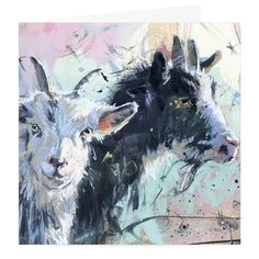 Pygmy Goat and Kid Art Greeting Card By James Bartholomew - Card Open