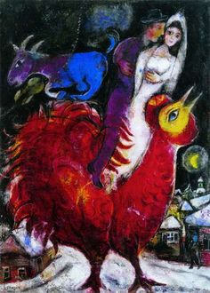 """New York – Marc Chagall: """"Love, War, and Exile"""" at The Jewish Museum Through February 2014 Marc Chagall, Artist Chagall, Chagall Paintings, Atelier D Art, Jewish Museum, Jewish Art, Naive Art, Cubism, French Artists"""