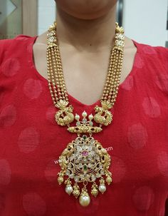 Beaded Jewelry Designs, Jewelry Design Earrings, Gold Earrings Designs, Gold Jewellery Design, Necklace Designs, Gold Haram Designs, Beaded Jewellery, Pearl Jewelry, Indian Jewelry