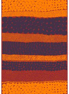 Off to the Woods: Marimekko´s Autumn Jurmo, Design: Aino Maija Metsola for Marimekko Finland Graphic Patterns, Textile Patterns, Textile Design, Color Patterns, Fabric Design, Print Patterns, Nail Patterns, Textiles, Marimekko Fabric