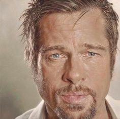 Brad Pitt by Sebastian Kruger