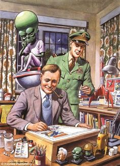 Space hero: Dan Dare can count Monty Python's Michael Palin and Terry Jones, as well as musical maestro Sir Tim Rice among his fans