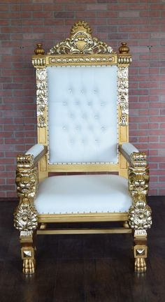 Clearance Lord Raffles Lion Throne Chair Gold Pink