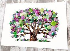 8 x 10 Button Art Lebensbaum Button Art mit von BellePapiers