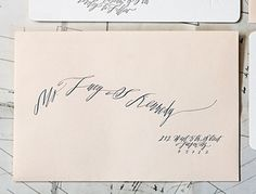 calligraphy by betsy dunlap via snippet and ink