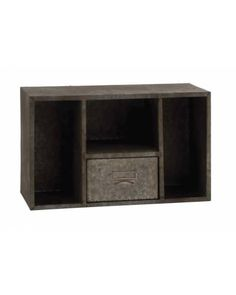 Galvanized Metal Wall Cabinet with Single Squared Storage Box and Open Shelves - Made from metal, this wall shelf features 3 compartments and one drawers. The shelf is designed to give a very rusty aura to any space they are kept in. The spacious drawers features a comfortable handle for ease in opening and closing. You can even store or place stuff on the top of this shelf. It will tidy up any space or area and make it look spruced up.
