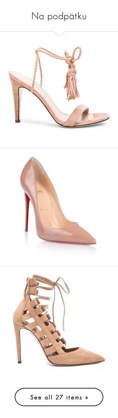 """Na podpätku"" by bartivana ❤ liked on Polyvore featuring shoes, pumps, heels, leather sole shoes, tassel shoes, wrap shoes, high heeled footwear, jenni kayne shoes, christian louboutin and sapatos"