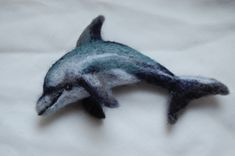 Wooly Wild Things - Needle Felted Dolphin