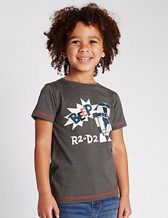 Star Wars™ Beep R2-D2 Slogan T-Shirt (1-8 Years) | M&S