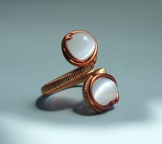 copper jewelry handmade | Snow white copper ring handmade wire wrapped jewelry by VeraNasfa