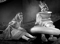 Alice in Wonderland (1933) Alice with the White King played by Ford Sterling