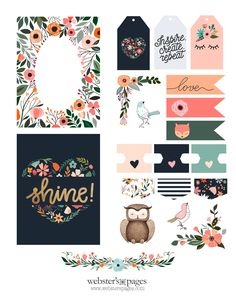FREE - New Fall Printable Scrapbook Paper, Printable Planner Stickers, Journal Stickers, Scrapbook Stickers, Printable Cards, Journal Cards, Free Printables, Scrapbook Supplies, Project Life Karten